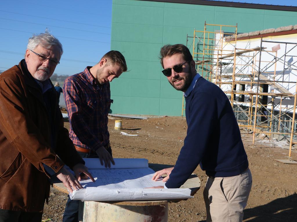 Left to right: Dr. Thomas Baeker, Brian Snead, Zachary Baeker